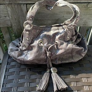 EUC Nine West bag , grey with inside compartments